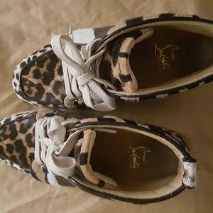Louboutin Rantus Orlato Pony Leopard sneakers shoe